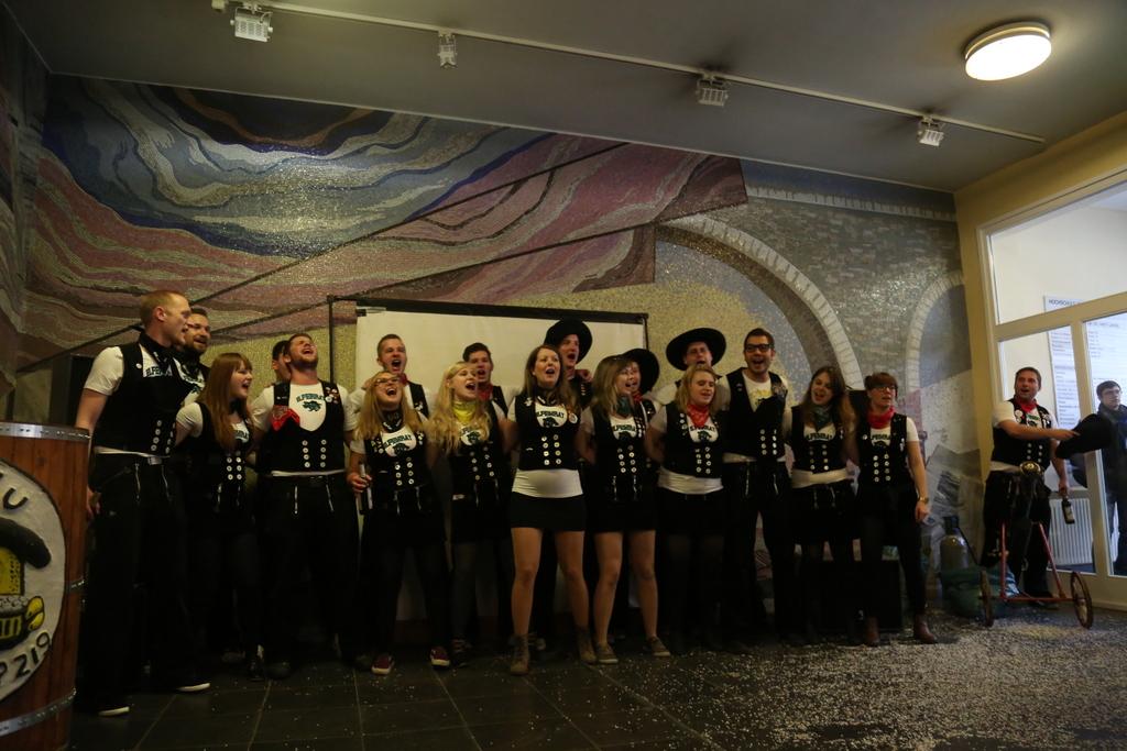 Faschingsvorlesung 2015 (Foto: Rebecca Schweier | HTWK Leipzig)